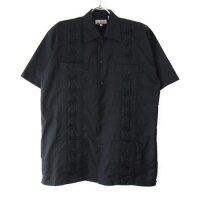 (BLK/XL) Chic Elegant  キューバシャツ(新品)【メール便可】