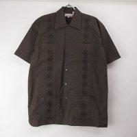 (DBR/XL) Chic Elegant  キューバシャツ(新品)【メール便可】