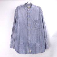 HAGGER  ノーカラー ストライプシャツ 【メール便可】