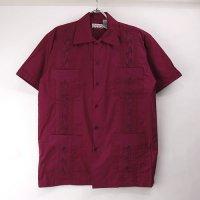 (BUR/XL) Chic Elegant  キューバシャツ(新品) 【メール便可】