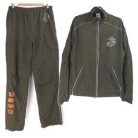米軍  USMC トレーニングスーツ 上下 セット New Balance製 made in USA ナイロン