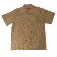 (MBRN/XL) Maximos マキシモス キューバシャツ (新品) 半袖  【メール便可】