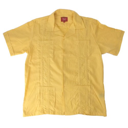 (YLW/M) Maximos マキシモス キューバシャツ (新品B品) 半袖 【メール便可】