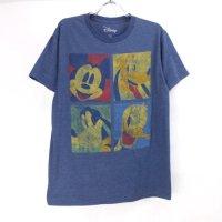 ミッキーマウス ドナルド グーフィー プルート Tシャツ (古着) 【メール便可】