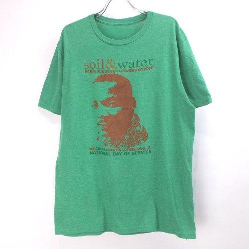 soil & water マーチンルーサーキングjr  Tシャツ (古着) 【メール便可】