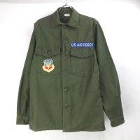 米軍 コットンサテン  ユーティリティシャツ  AIR FORCE 14.1/2