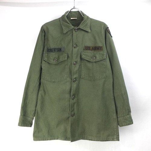 米軍 コットンサテン  ユーティリティシャツ  U.S.ARMY  14.1/2