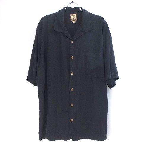 トミーバハマ 半袖 シルクシャツ BLK #3 Tommy Bahama【メール便可】