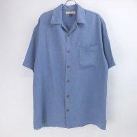 トミーバハマ 半袖 シルクシャツ BLU  #4 Tommy Bahama【メール便可】