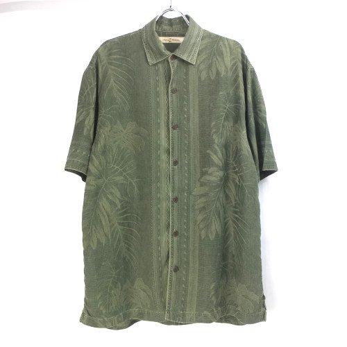 トミーバハマ 半袖 シルクシャツ GRN #5 Tommy Bahama【メール便可】