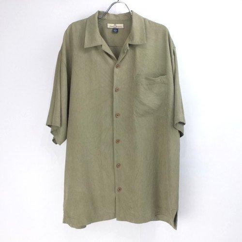 トミーバハマ 半袖 シルクシャツ OLV  #7 Tommy Bahama【メール便可】