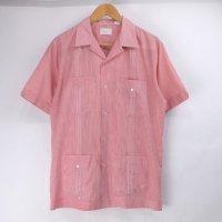 Guayabera キューバシャツ ストライプ 古着 【メール便可】(sale商品)