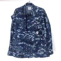 米軍 USN NWU ブルーカモ シャツジャケット  SXS