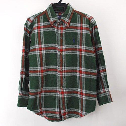 ラルフローレン キッズ ボタンダウンシャツ サイズ【38x51cm 】 古着  【メール便のみ】