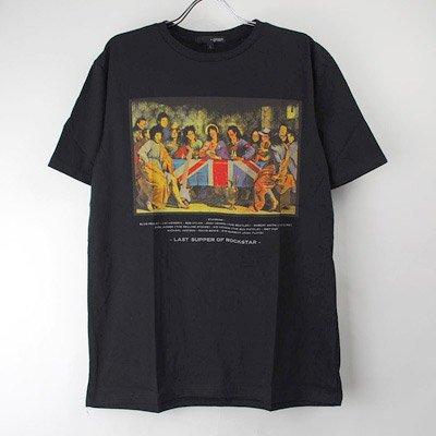 <img class='new_mark_img1' src='https://img.shop-pro.jp/img/new/icons24.gif' style='border:none;display:inline;margin:0px;padding:0px;width:auto;' />(L/ブラック) 最後の晩餐 ロックスター Tシャツ(新品)   【メール便可】(sale商品)