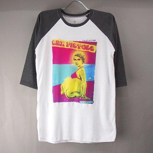 (M)セックスピストルズ ベースボール  Tシャツ(新品) 【メール便可】