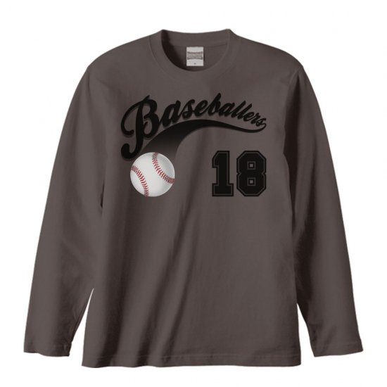 野球のボール/長袖Tシャツ