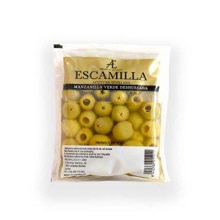 エスカミージャ グリーンオリーブ塩漬け(種なし)パウチ
