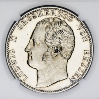 1839 GERMANY 2T HASSE-DARMSTADT PLAIN EDGE PATTERN 【PF63 CAMEO】