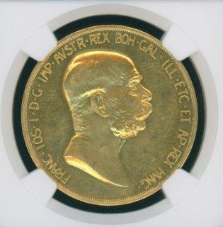 1908 AUSTRIA 100C 60TH ANNIVERSARY OF REIGN【MS61】