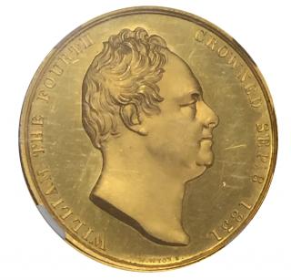 1831 G.BRIT. BHM-1475 GOLD WILLIAM IV CORONATION (27.7g,33mm)【MEDAL PF 64 ULTRA CAMEO】