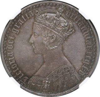 1847 UN DEC G,BRITAIN CROWN GOTHIC TYPE【PF 62】