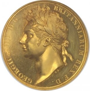 <img class='new_mark_img1' src='//img.shop-pro.jp/img/new/icons14.gif' style='border:none;display:inline;margin:0px;padding:0px;width:auto;' />BRITISH HISTORICAL MEDAL 1821 G.BRIT GOLD GEORGE IV CORONATION【PF 62 CAMEO】