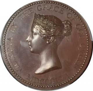 1856 Great Britain Eimer-1511 Bronzed AE Medal【SP64】