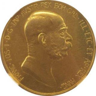 1908 AUSTRIA 100C 60TH ANNIVERSARY OF REIGN【AU55】