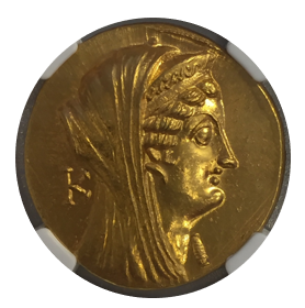 Arsinoe II, d.270/68 BC PTOLEMAIC KINGDOM AV Octodrachm【MS Strike: 5/5 Surface: 3/5 】