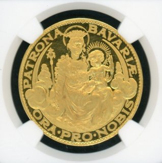 1928 GERMANY GOLD BAVARIA K-406 KARL GOETZ STATE OF UNITED GERMANY 【PF66 ULTRA CAMEO】