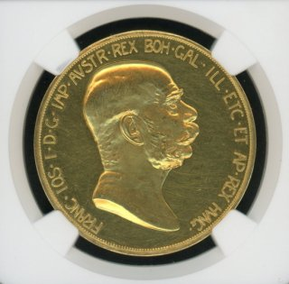 1908 AUSTRIA 100C 60TH ANNIVERSARY OF REIGN【MS62】