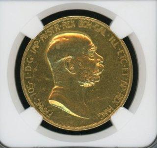 1908 AUSTRIA 100C 60TH ANNIVERSARY OF REIGN【MS60】