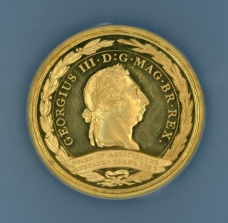 1812 G.BRIT EIMER-853 GOLD BOARD OF AGRICULTURE MEDAL CHARLES DUNCOMBE ESQ.【PF62 ULTRA CAMEO】