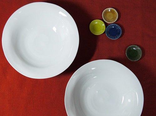 白磁 変形鉢 直径19�