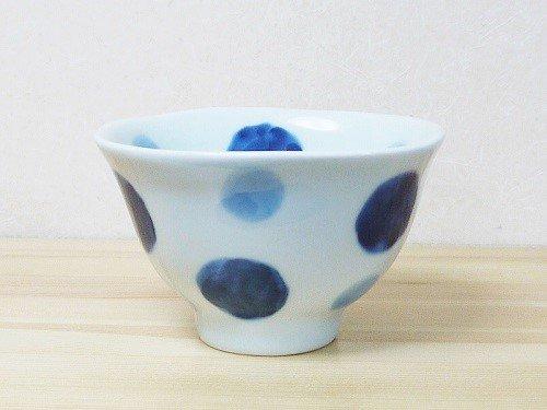 呉須水玉卵かけ茶碗