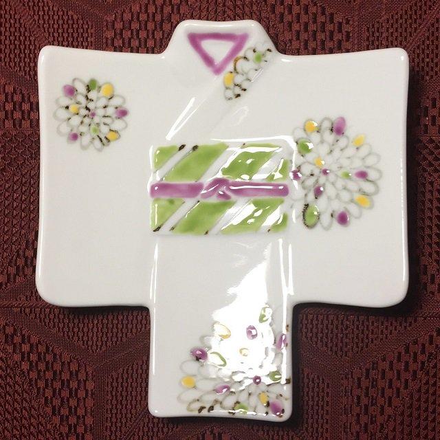 着物銘々皿/色絵菊