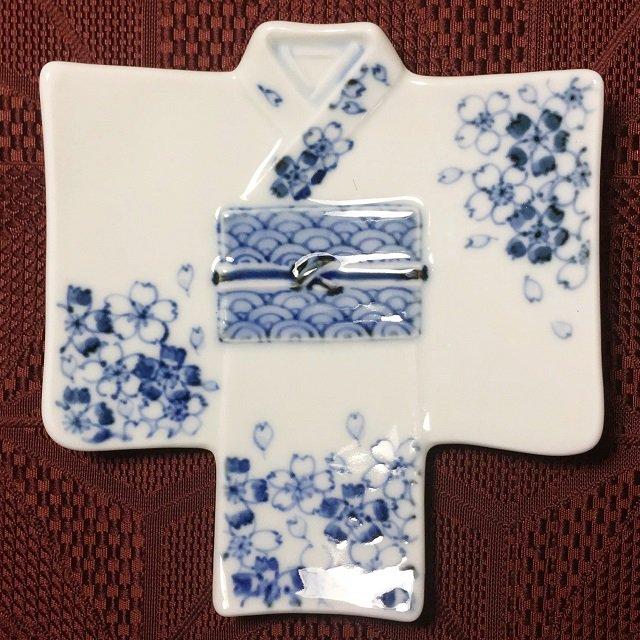 着物銘々皿/撫子青海波