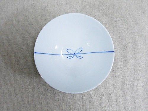 青結び茶碗