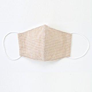 シルクinマスク 茶綿チェック&ストライプ