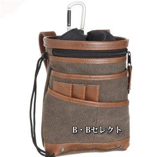 携帯電話小物入れバッグ FAB6BR<br>中林製作所ワーカーズレーベルの小物入はスマホ収納に!