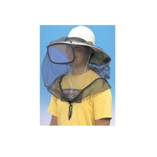 レンズ付防虫ネット H-775 モスグリーン<br>お手持ちの帽子に取りつけできる防虫ネット。