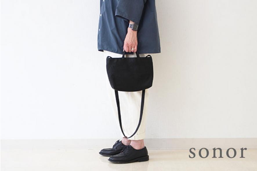 sonorのエコレザーのバッグ