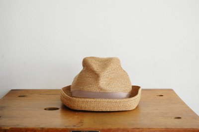 mature ha. / マチュアーハ BOX HAT MBOX-104(mix brown×pink beige 7cm)
