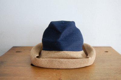 mature ha. / マチュアーハ BOX HAT MBOX-101TT(navy×mix brown 11cm)
