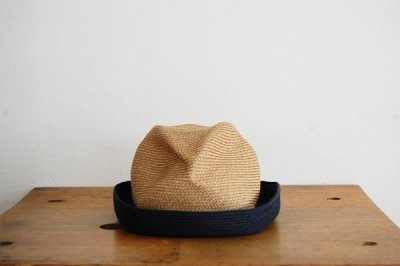 mature ha. / マチュアーハ BOX HAT MBOX-104TT(mix brown×navy 7cm)