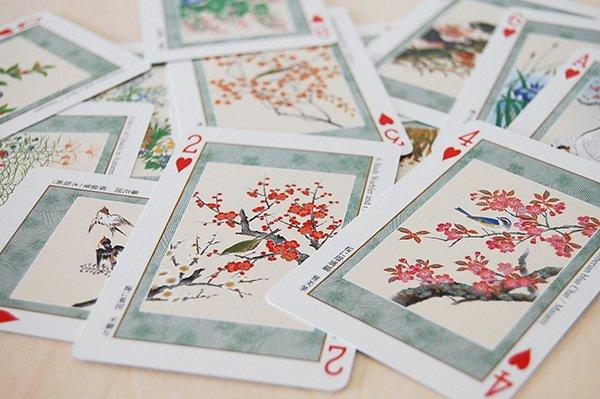 京都・福井朝日堂 浮世絵トランプ「日本の花鳥」