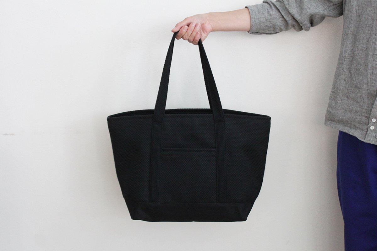 TANEI/タネイ sasicco トート10(ブラック)刺し子織り