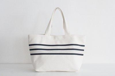 TANEI/タネイ sasicco ライントートM(キナリ)刺し子織り