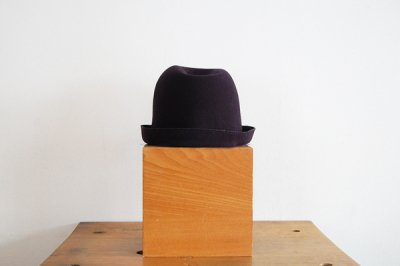 mature ha/マチュアーハ back stitch wool free hat MFEL-1101(navy)